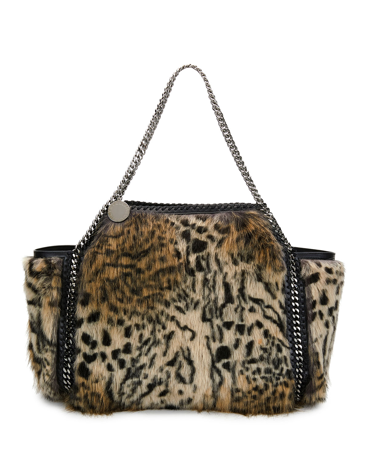 Stella McCartneySmall Falabella Snow Cat Fur Free Fur Reversible Tote Bag 4991124fd7c53