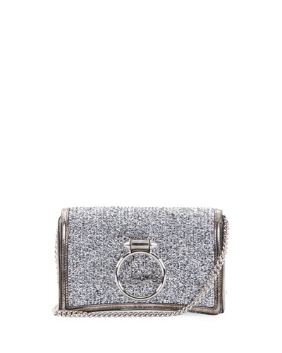 Ruby Lou Glitter Clutch Bag