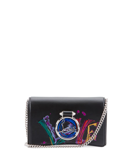 Christian Louboutin Ruby Lou Love Clutch Bag