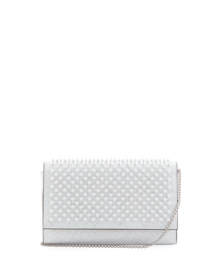 Christian Louboutin Paloma Coquillage Spikes Fold-Over Clutch Bag
