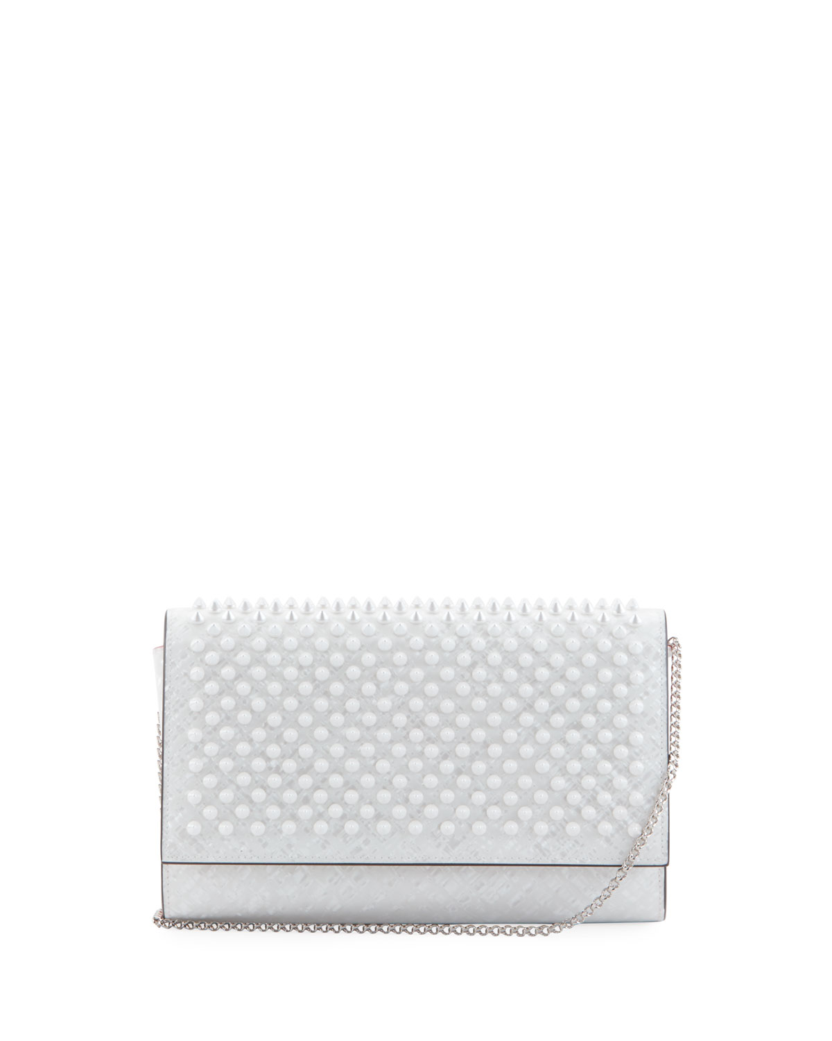 17a0d3a80026 Christian Louboutin Paloma Coquillage Spikes Fold-Over Clutch Bag ...