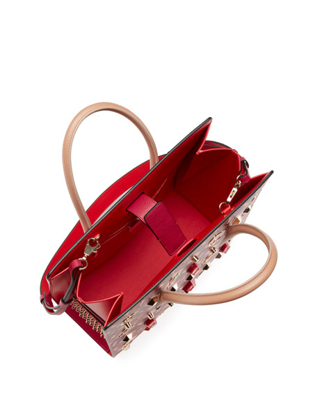 Paloma Medium Calf Paris LoubiX Patent Tote Bag
