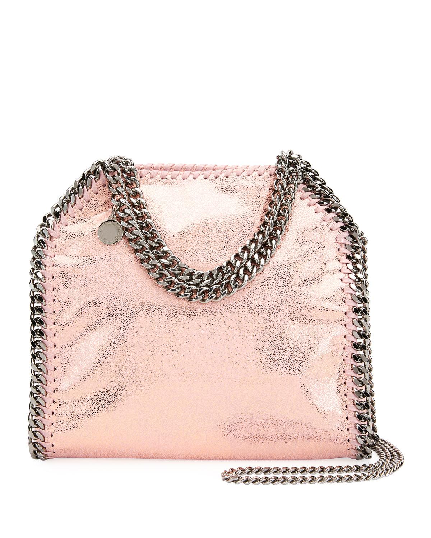Stella McCartney Mini Falabella Metallic Chain Tote Bag  61db87d9c354e