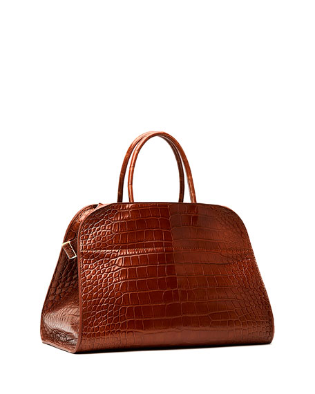 THE ROW Margaux 15 Alligator Top-Handle Bag