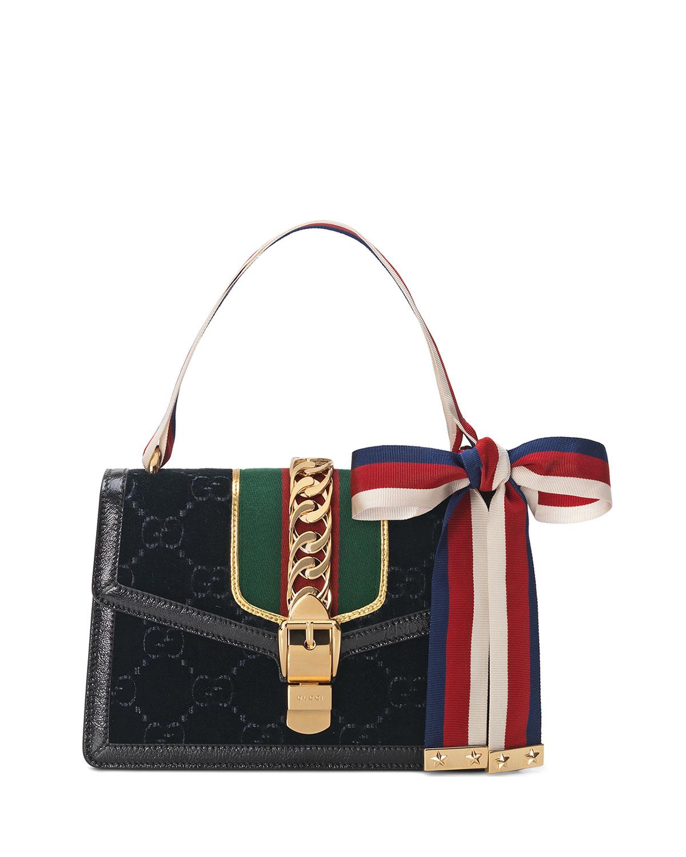 e0ac40e75819 Gucci Sylvie Velvet GG Supreme Crossbody Bag