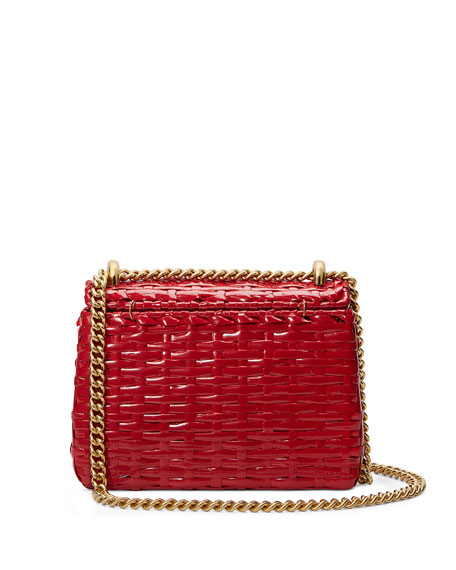 Linea Cestino Mini Web Straw Shoulder Bag