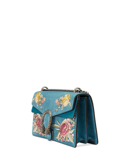 Dionysus Small Suede Floral Shoulder Bag