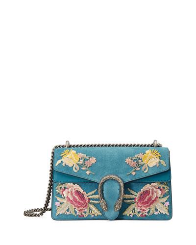 Dionysus Small Suede Floral Shoulder Bag