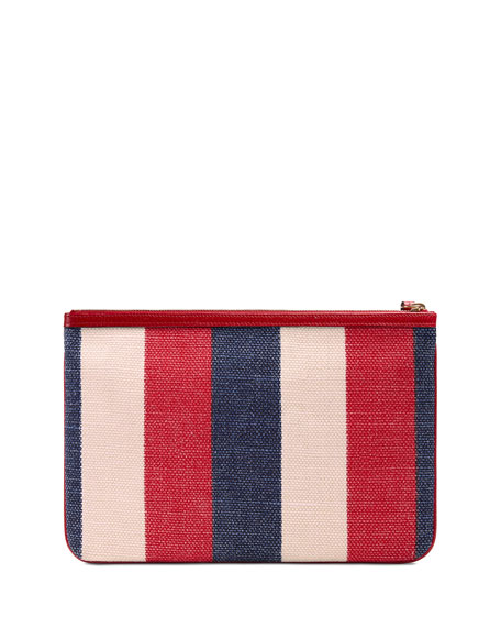 Linea Merida Striped Canvas Pouch Bag