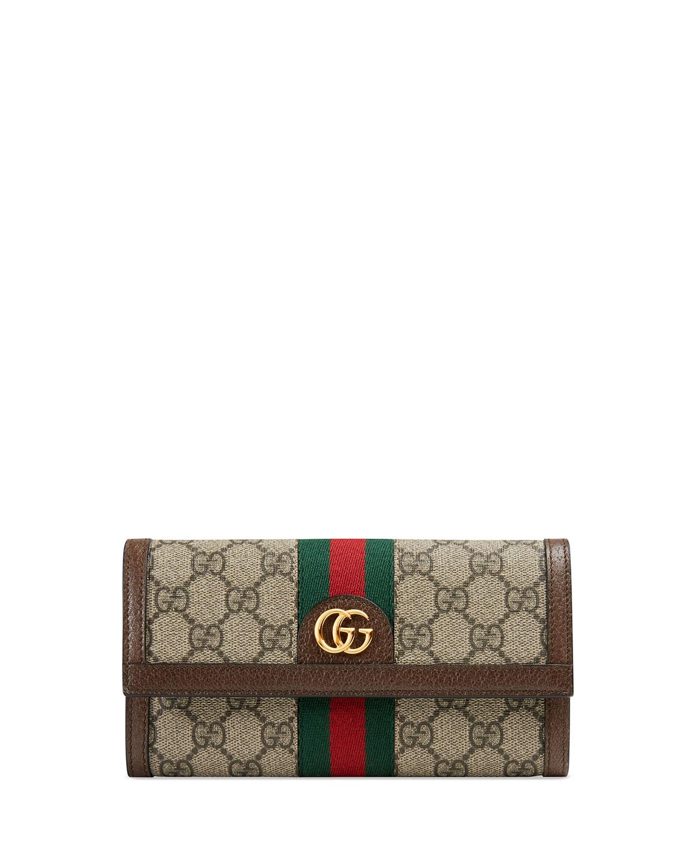 88b154e39f3b37 Gucci Ophidia GG Supreme Canvas Wallet | Neiman Marcus
