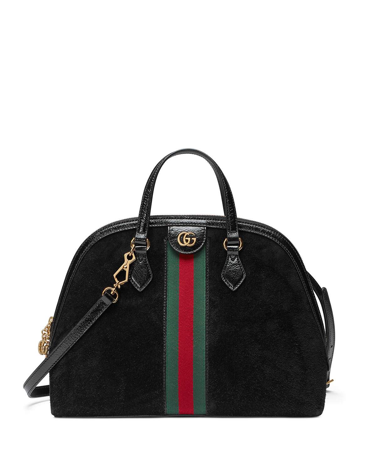 f385dedf799 Gucci Ophidia Medium Web Suede Top-Handle Bag