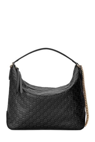Gucci Linea A Large Guccissima Leather Hobo Bag