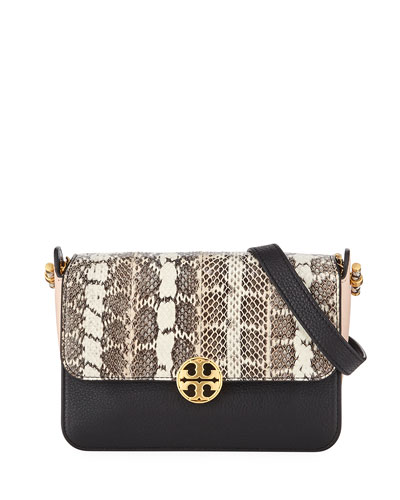 Chelsea Colorblock Snake Crossbody Bag