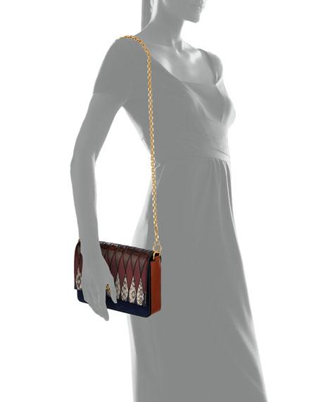 Kira Pieced Exotic Snakeskin Shoulder Bag