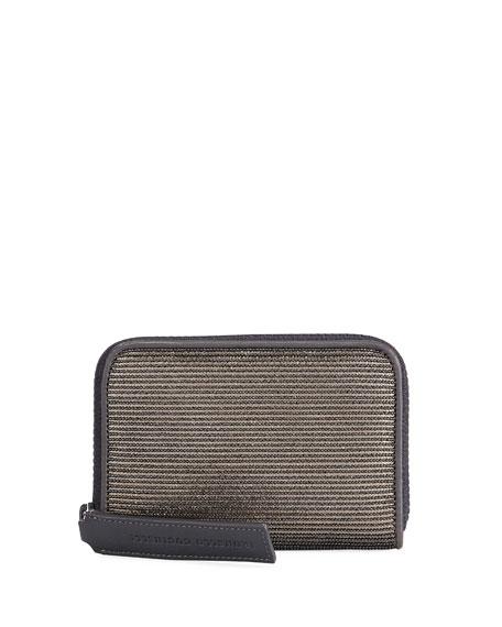 Medium Corduroy-Effect Leather Wallet