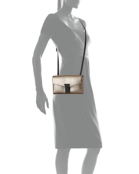 City Metallic Leather Crossbody Bag