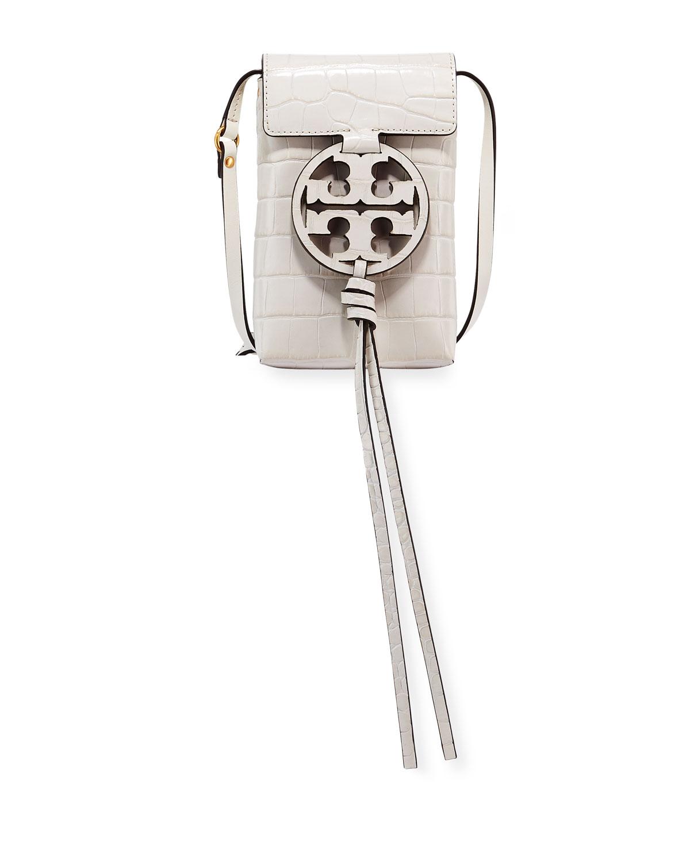 2e492d33d Tory Burch Miller Embossed Phone Crossbody Bag