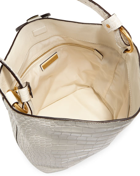 Miller Embossed Leather Hobo Bag