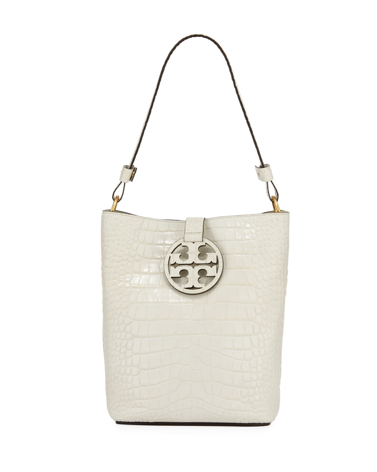 634dd22ff94 Tory Burch Miller Embossed Leather Hobo Bag