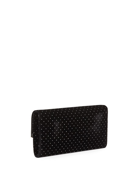 Emmie Glitter Spotted Velvet Clutch Bag