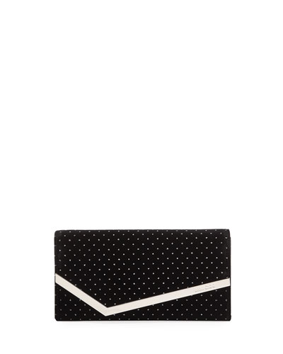 Emmie Glitter Spotted Velvet Clutch Bag