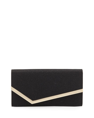 Emmie Fine Glitter Leather Clutch Bag