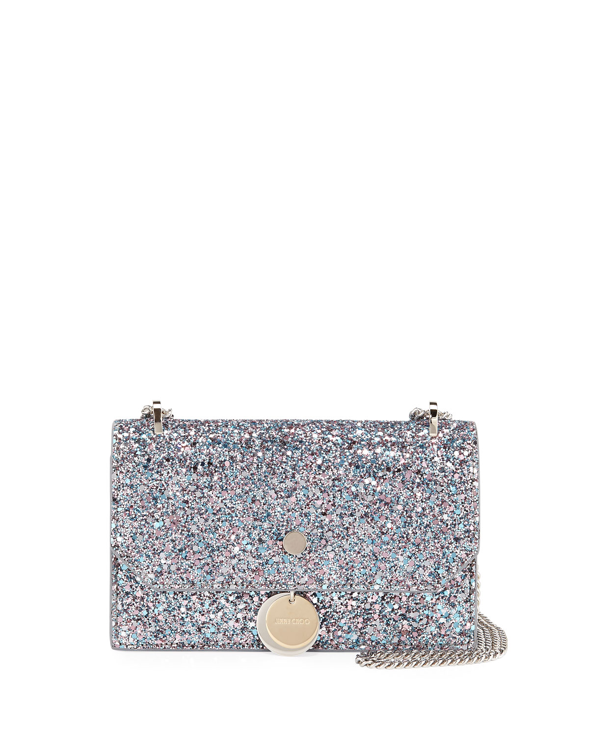 2c5debbde86d Jimmy Choo Finley Coarse Glitter Crossbody Bag