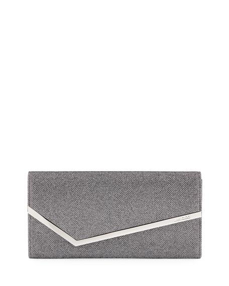 Jimmy Choo Erica Metallic Glitter Clutch Bag