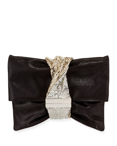 Chandra Small Shimmery Clutch Bag