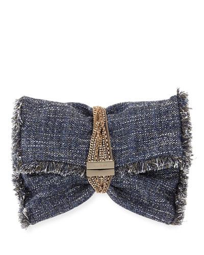 Chandram Metallic Tweed Clutch Bag