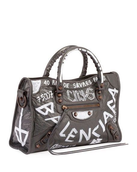 Classic City AJ Small Graffiti Satchel Bag