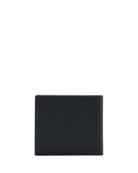 Men's Trasai Striped Leather Bi-Fold Wallet