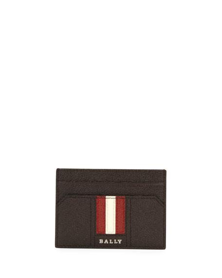 Men's Taclipos Leather Money Clip Card Case