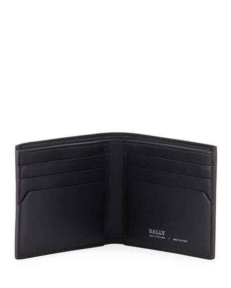 men's Bevye Logo-Print Faux-Leather Bi-Fold Wallet