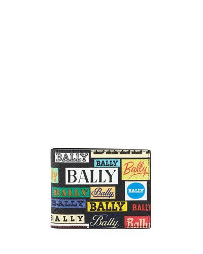 men's Bevye Logo-Print Faux-Leather Bi-Fold Wallet