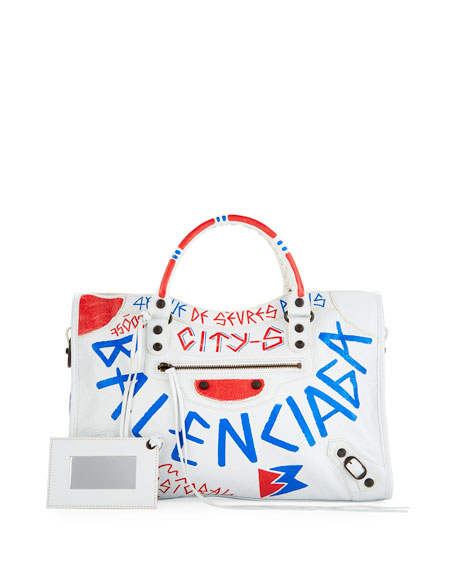 Balenciaga Classic City Graffiti Satchel Bag