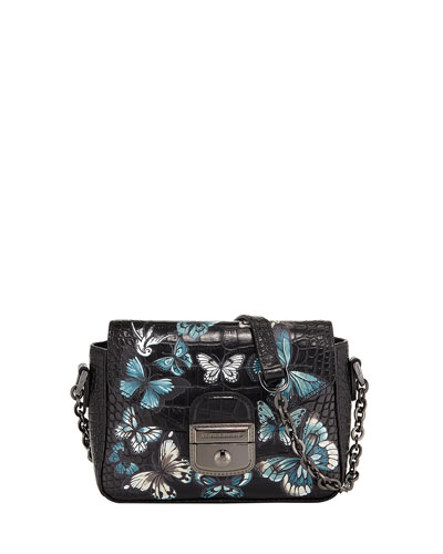 Le Pliage Heritage Croc Small Crossbody Bag
