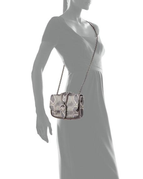 Amazon Python Mini Crossbody Bag, Gray