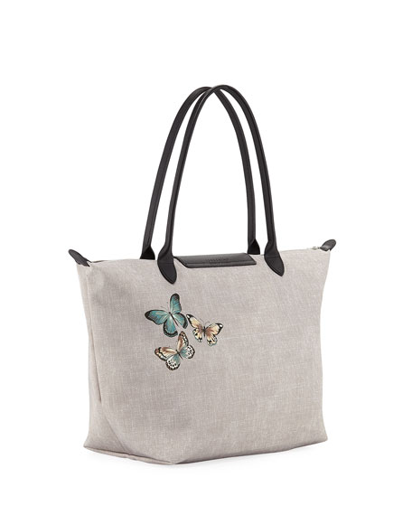 Le Pliage Butterfly Large Shoulder Tote Bag