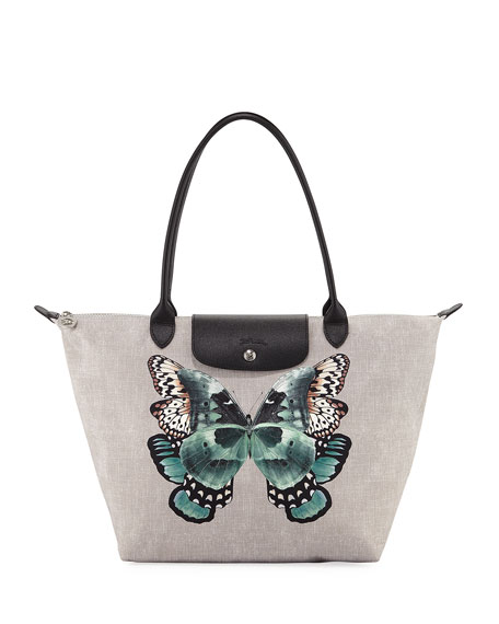 Longchamp Le Pliage Butterfly Large Shoulder Tote Bag