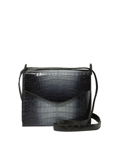 Ombré Crocodile Crossbody Bag