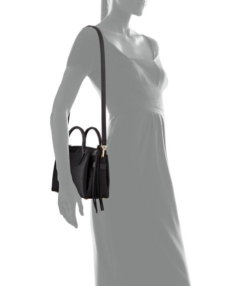 Cristy Mini Crocodile/Leather Tote Bag