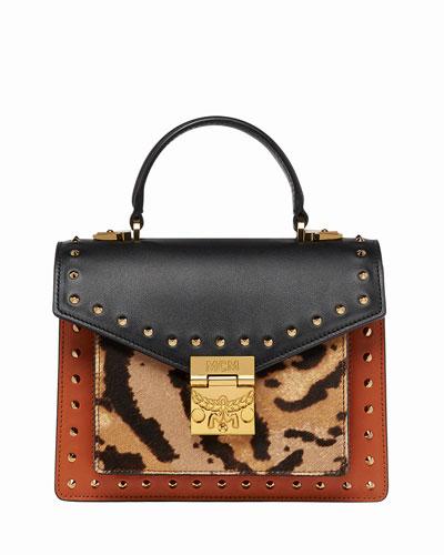 Patricia Small Leopard Combo Satchel Bag