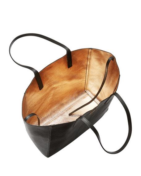 Wandel Medium Leather Shopper Tote Bag