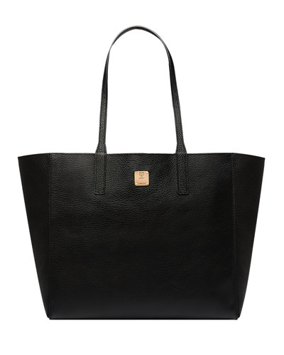 Wandel Medium Leather Shopper Tote Bag