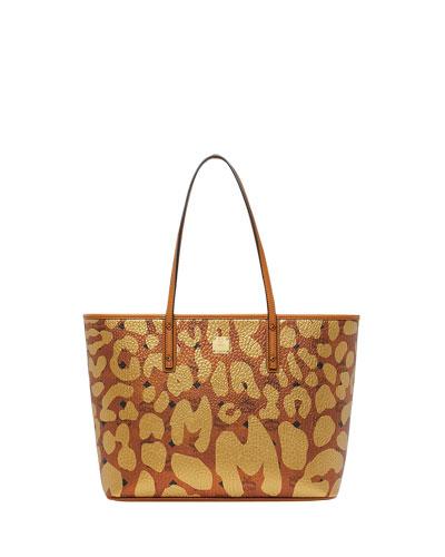 Anya Leopard-Print Tote Bag