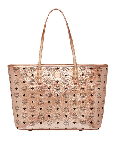 Anya Medium Visetos Zip Shopper Tote Bag
