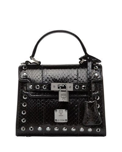 Neo Heritage Exotic Crystal Satchel Bag