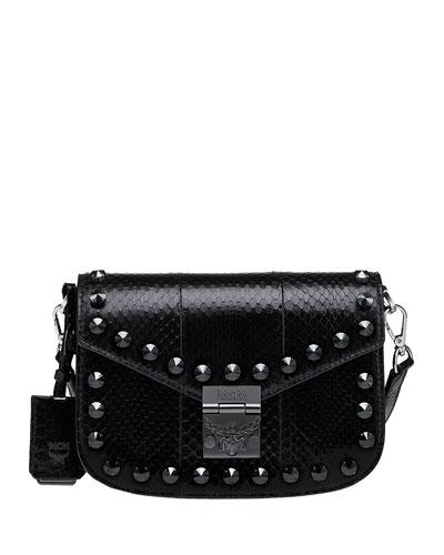 Mcm Patricia Small Exotic Crystal Shoulder Bag