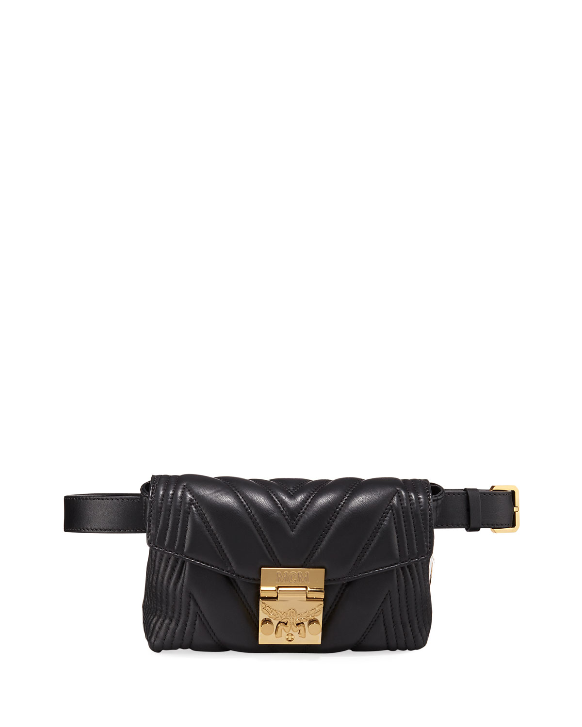 MCM Patricia Small Quilted Leather Crossbody Belt Bag  88924924bcae1